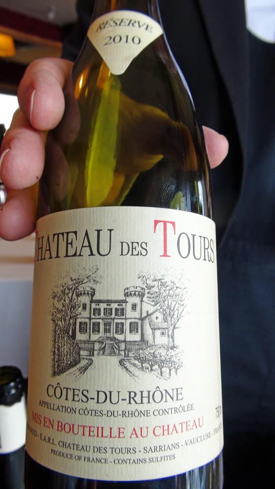 """Côtes-du-Rhône blanc 2010 """"Château des Tours"""""""