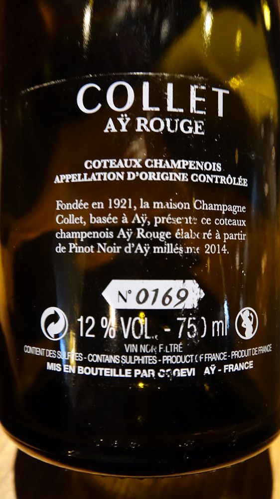 Champagne sur le 3 ème acte (Étiquette légale)