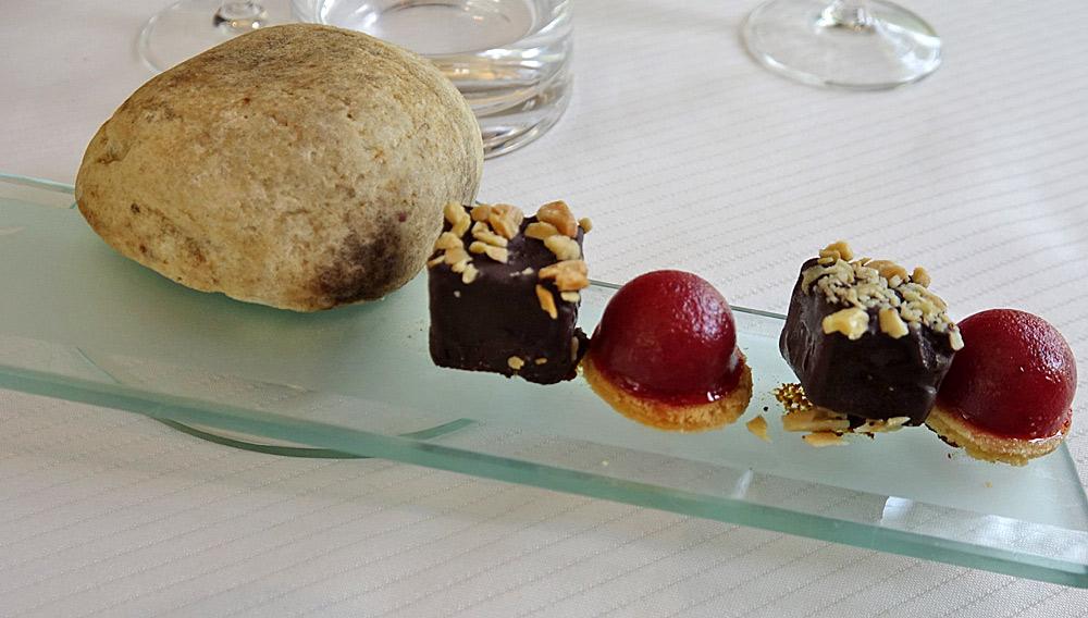 Mignardises : Tartelette fraise - Brownie chocolat
