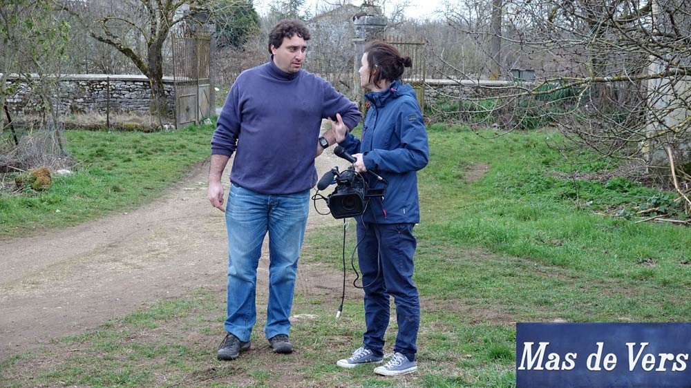 Matthieu Merit et la cameraman de M6
