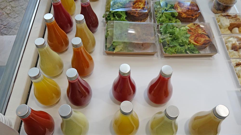 Purées de fruits en bouteilles