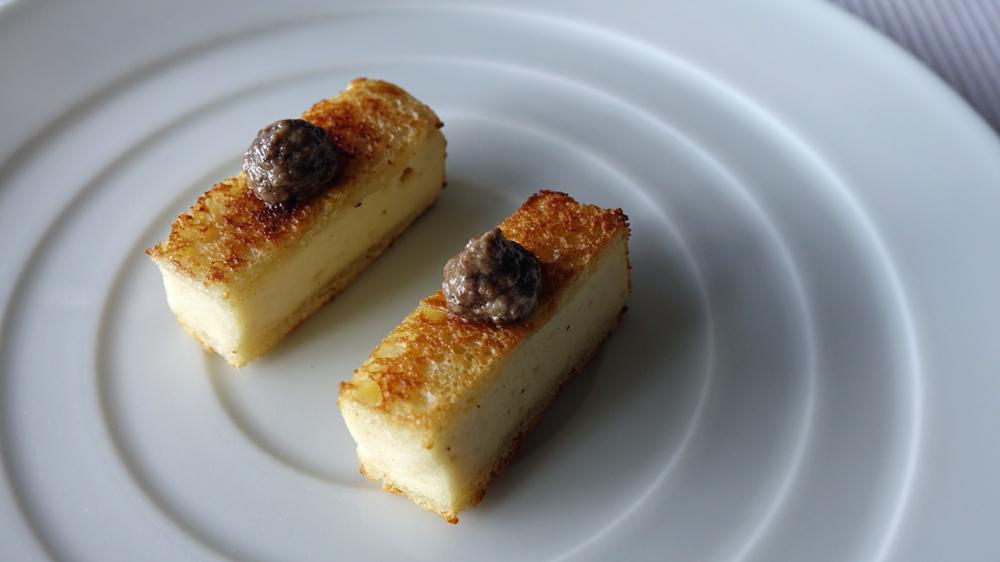 Amuse-bouche : Panino (et non panini !) à la volaille, crème d'anchoïade