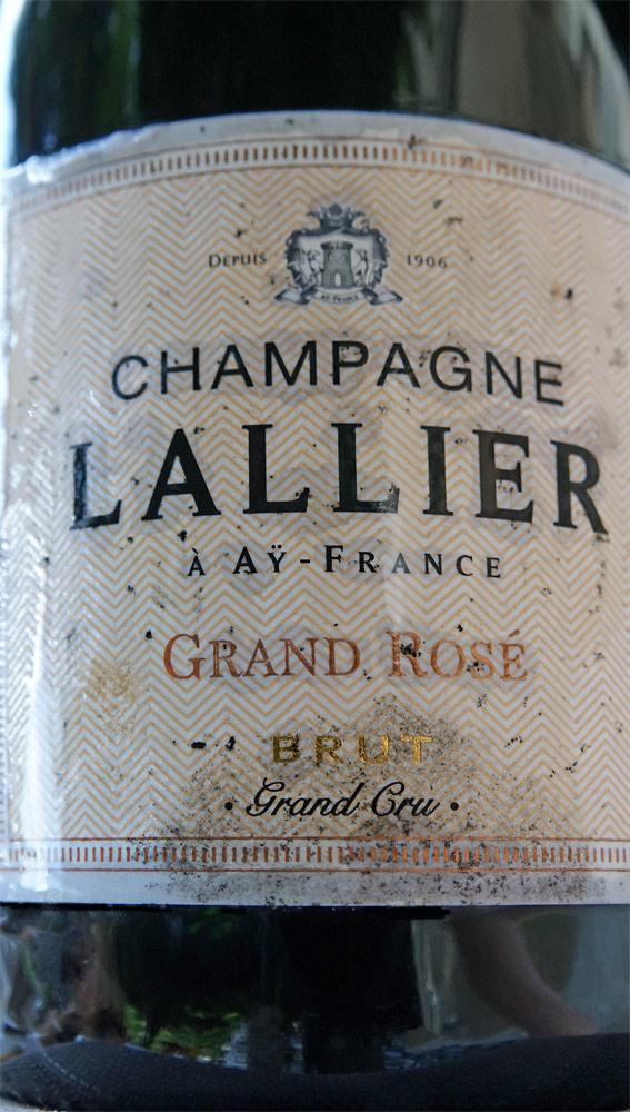 Champagne rosé Lallier