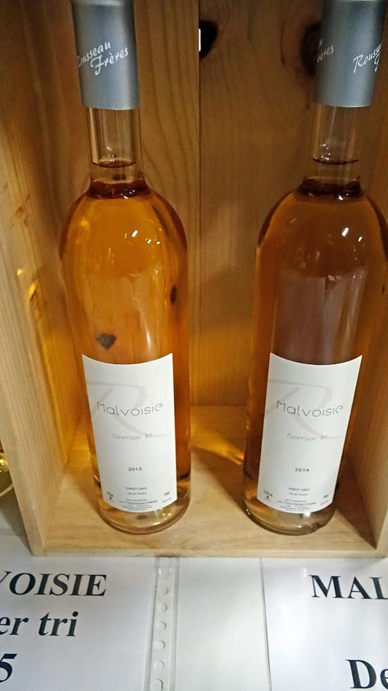 Caisse en bois : Malvoise (ou Pinot gris) Dernier tri 2015 - Malvoise (ou Pinot gris) Dernier tri 2014