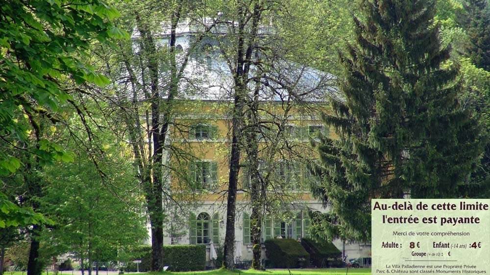 La villa Palladienne de Syam construite en 1818