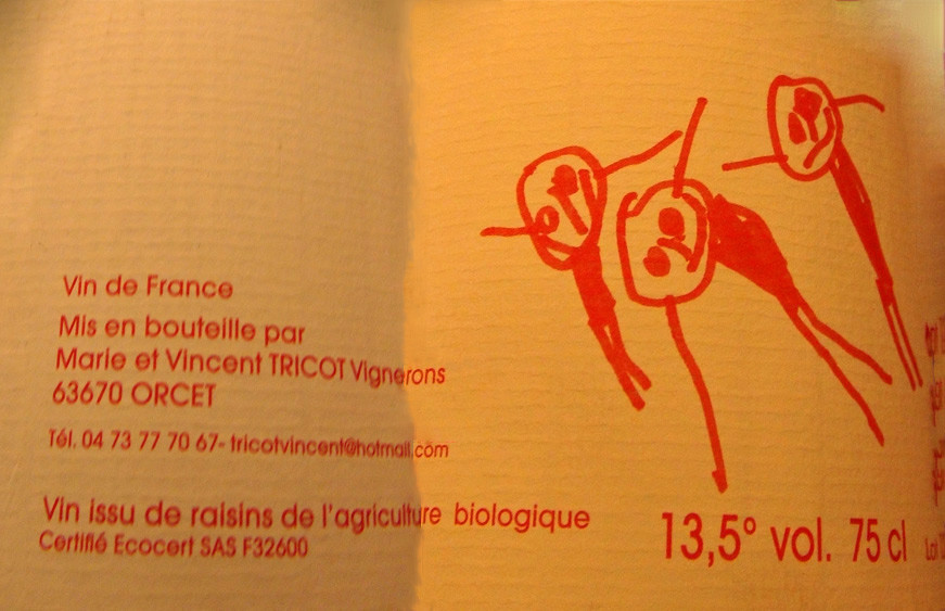 Vin de France rouge de Marie & Vincent Tricot