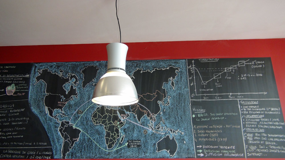 La carte des pays producteurs de café