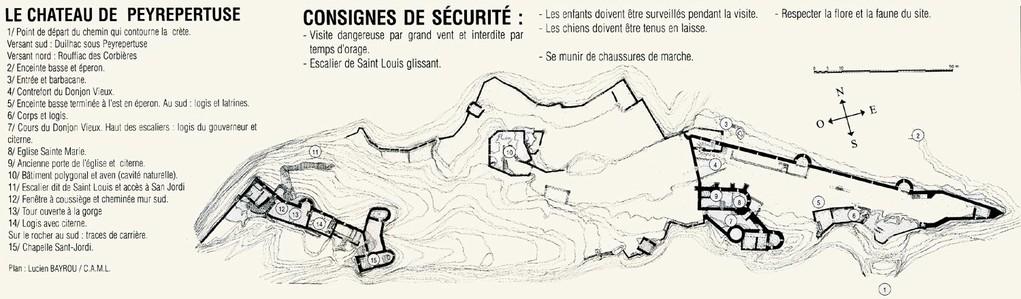 Plan du château de Peyrepertuse