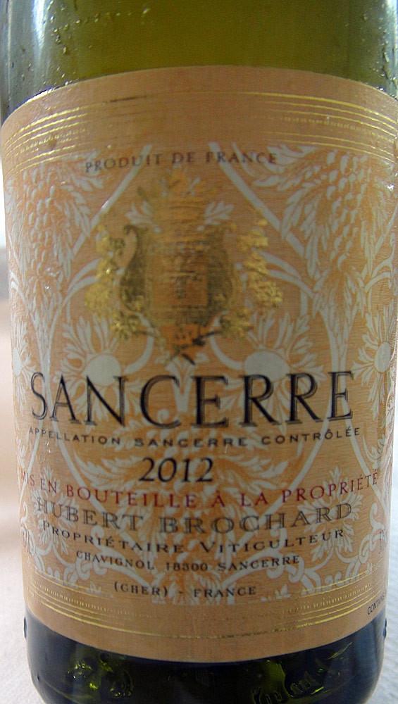 Sancerre blanc 2012 de Brochard à 13 € 50 la demi-bouteille