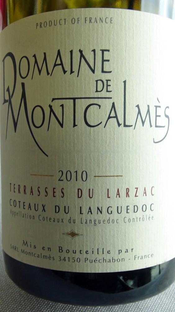 """Coteaux du Languedoc rouge 2010 """"Les Terrasses du Larzac"""" du Domaine de Montcalmès"""