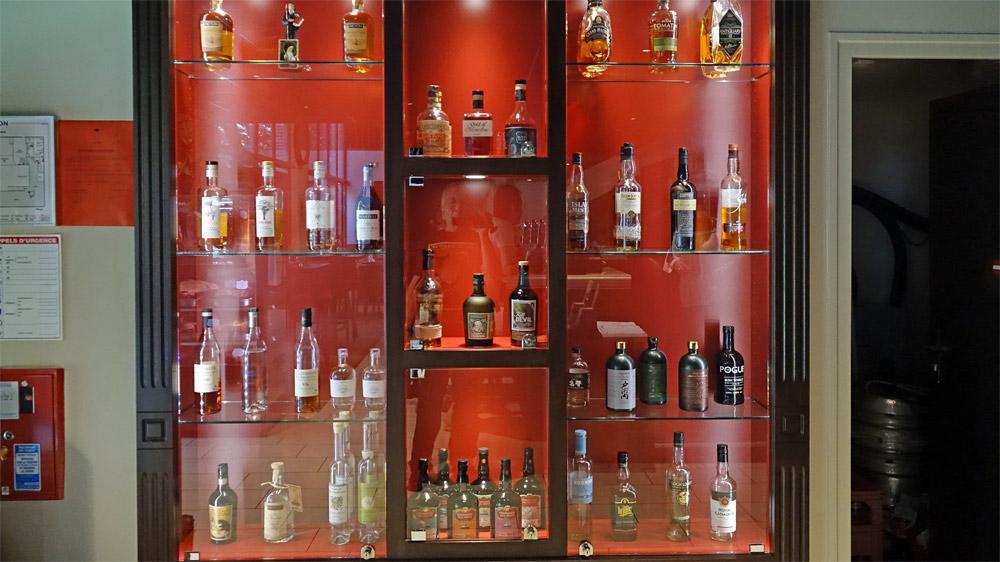 Les alcools disponibles