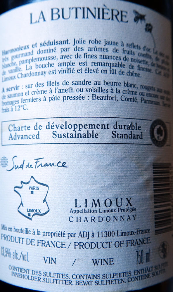 "Limoux blanc 2014 ""Chardonnay"""