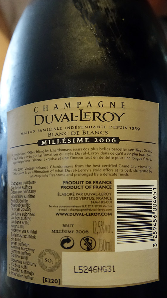 Champagne Duval-Leroy 2006