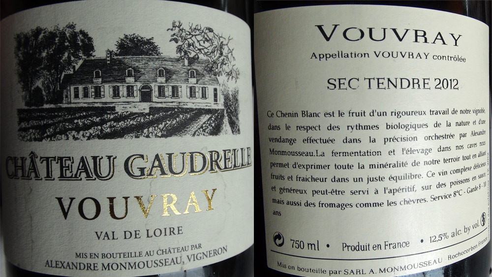 Vouvray 2012