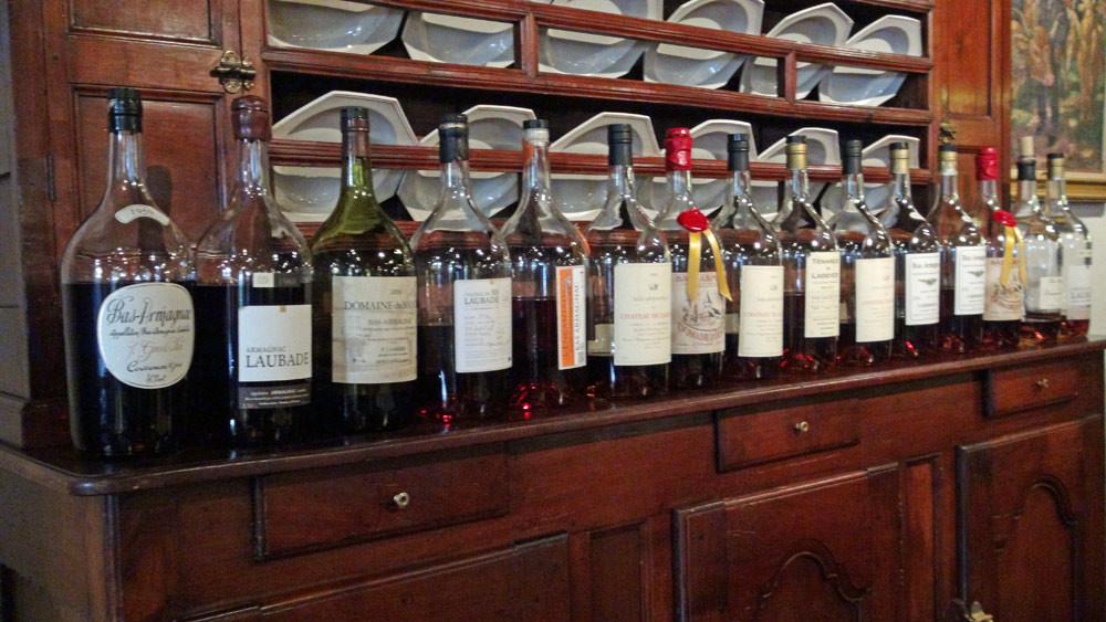 Imposante collection d'Armagnacs