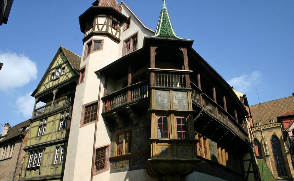 La maison Pfister et son unique oriel à 2 étages