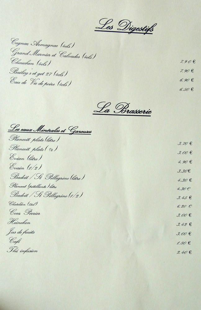 Digestifs et Brasserie