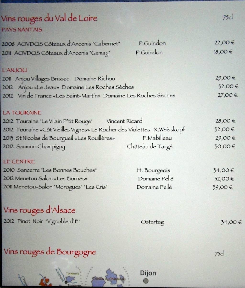 Vins rouges du Val de Loire & d'Alsace