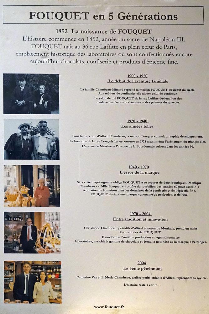 L'histoire de la Maison Fouquet