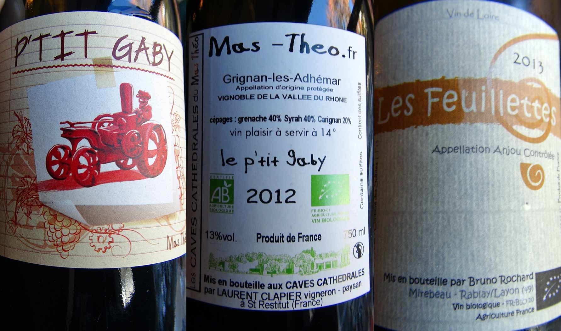 Les 2 vins au verre