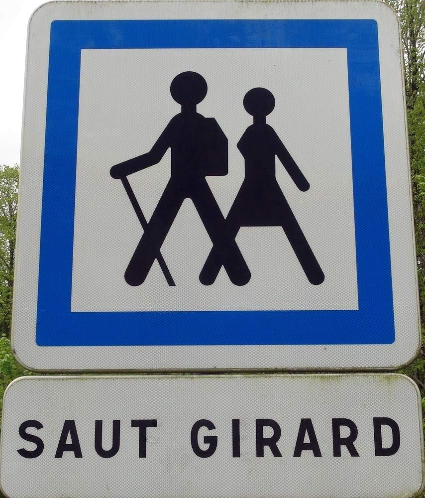 Le vrai panneau du Saut Girard