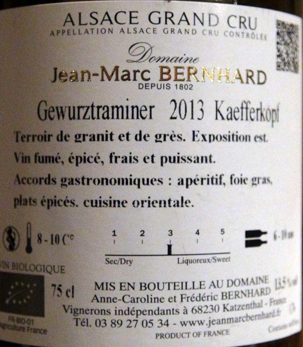 Un des vins dégusté