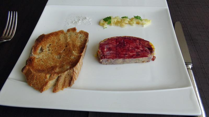 Foie gras confit