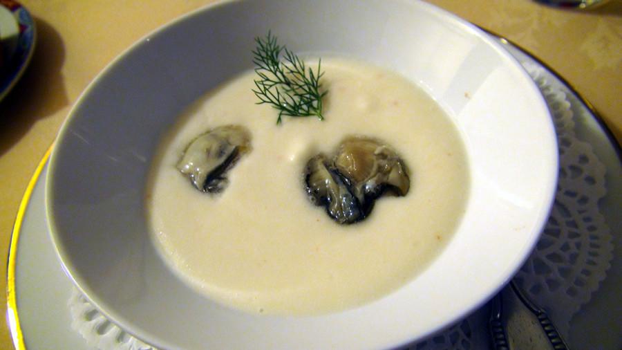 Crème de choux-fleurs aux huîtres