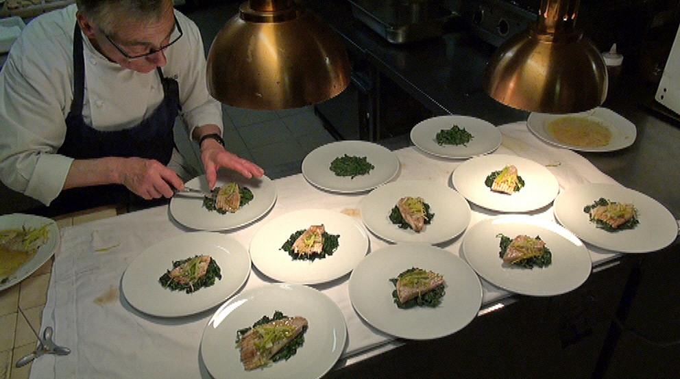 La préparation de la Salade de raie