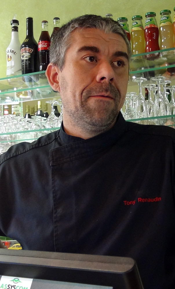 Le propriétaire et chef, Thierry Renaudin (TR)