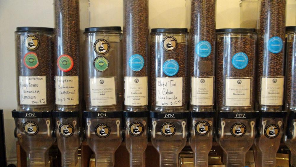 Quelques uns de la trentaine de cafés proposés