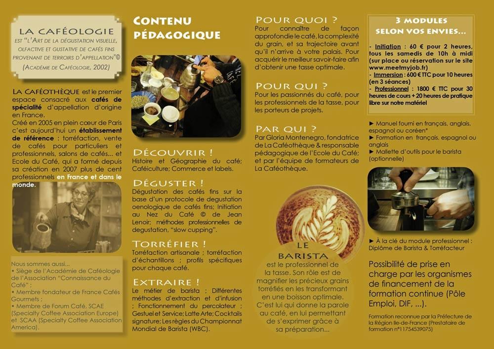 Présentation de la Caféothèque (Source : site de la Caféothèque)