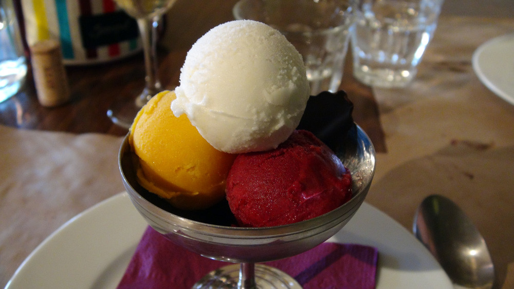 Sorbets maison : Verveine/citronnelle, Mangue & Fruits rouges