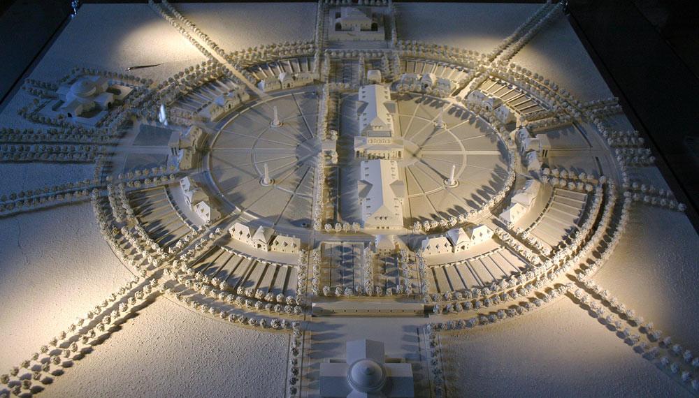 Arc-et-Senans, la maquette de la ville de Chaux en 150 bâtiments (projet)
