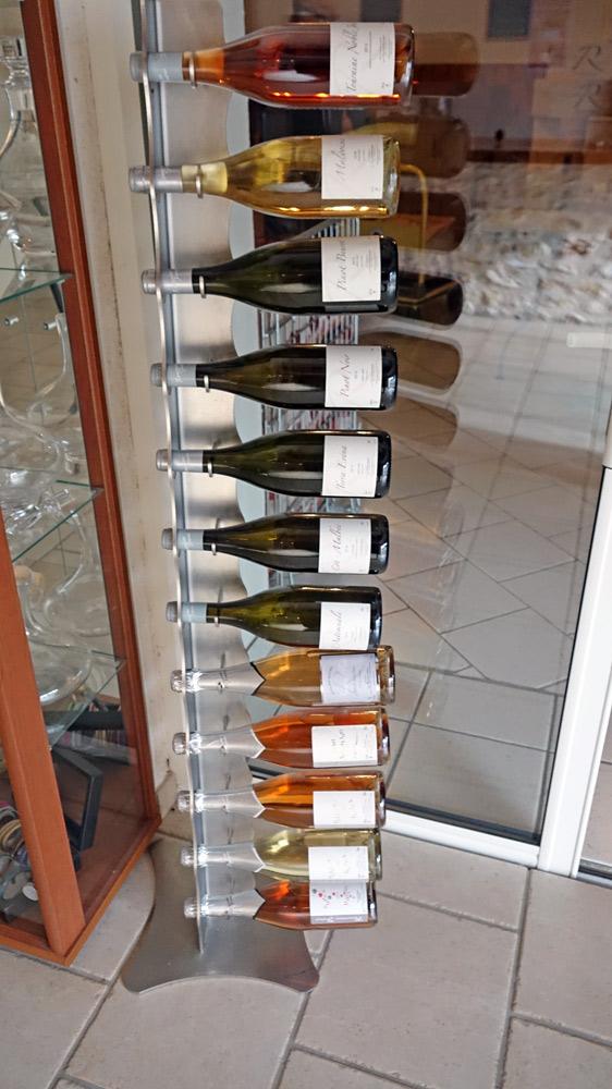La gamme des vins disponibles