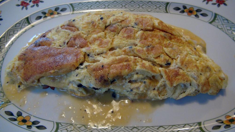 Omelette maison aux truffes