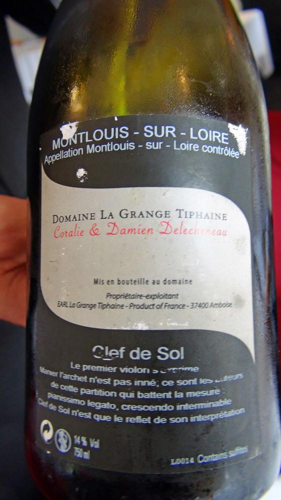 """Montlouis sec 2011 """"Clef de sol"""" Delecheneaux"""