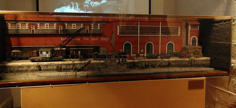 Maquette exposée dans le musée Sous-marin