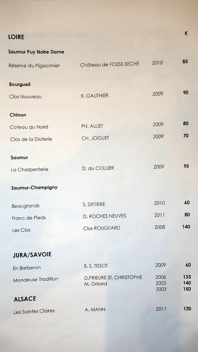 Vins rouges - Loire - Jura/Savoie - Alsace