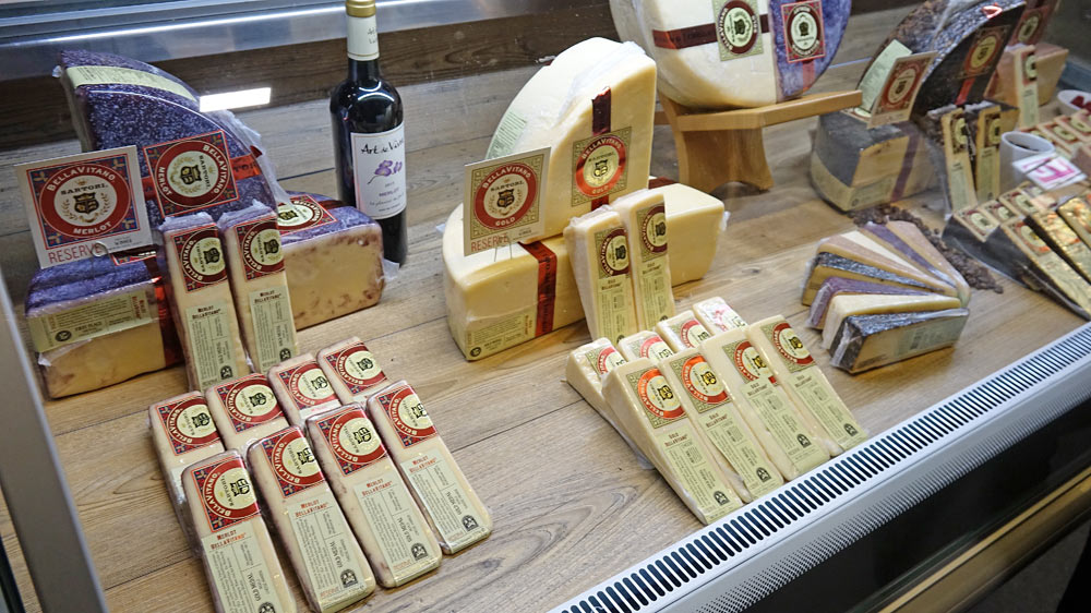 Bellavitano : fromage américain fabriqué dans le Wisconsin par la famille Sartori d'origine italienne