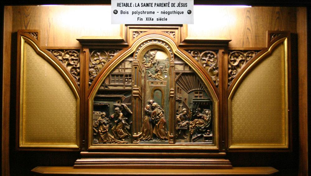 """La Collégiale Saint-Martin, appelée aussi la """"Cathédrale"""" - Rétable"""