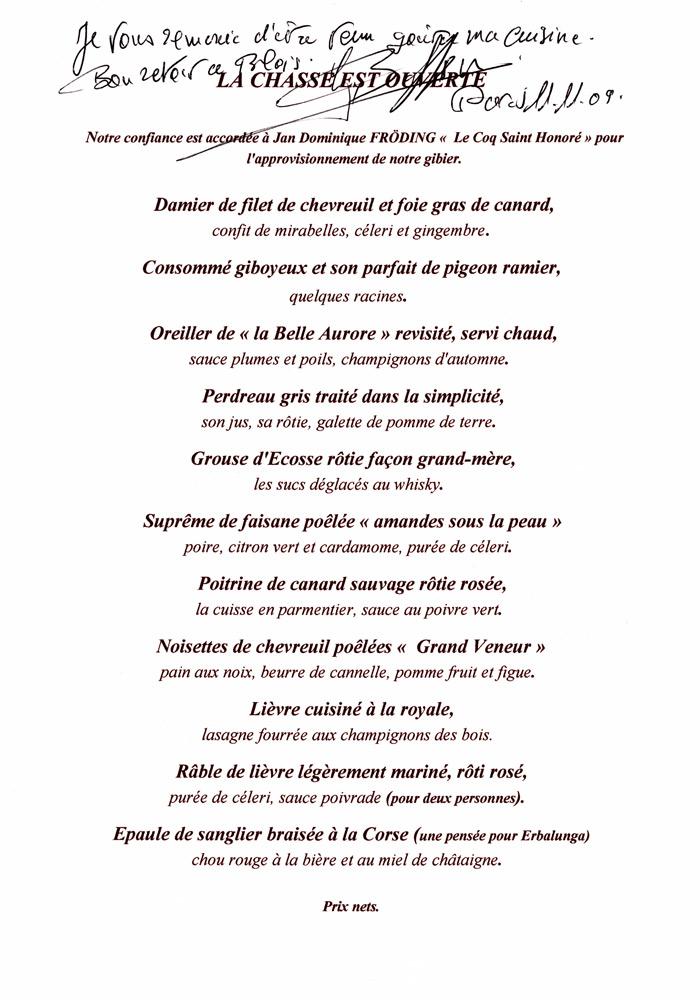 Carte de Gérard Besson dédicacée par Gérard Besson
