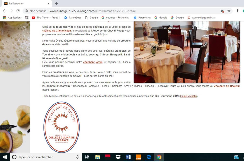 Le site de l'Auberge du Cheval Rouge