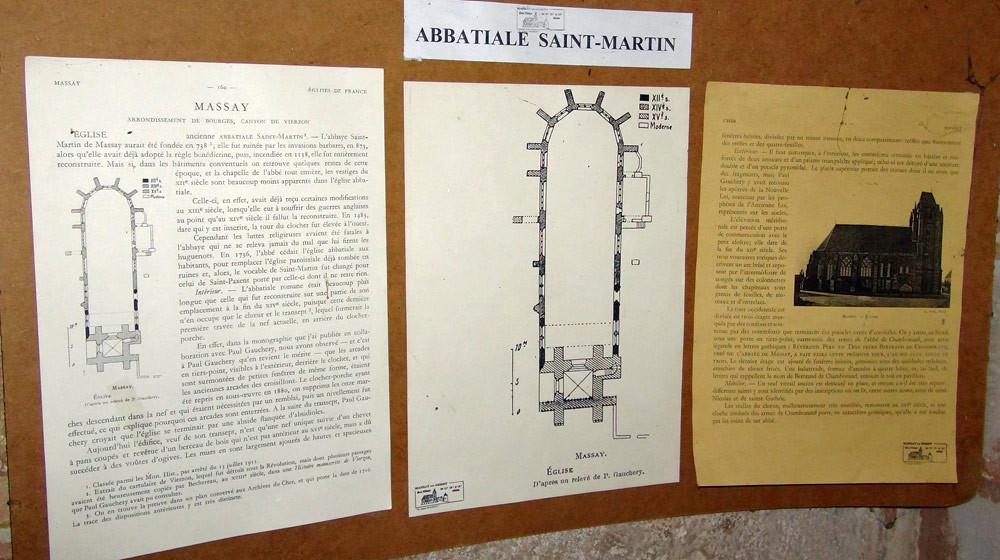 Histoire de l'église de Massay, ancienne abbatiale Saint-Martin