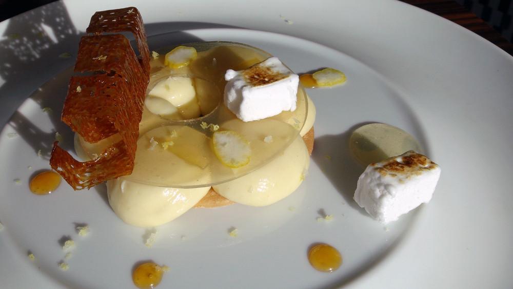 Tarte fine au citron revisité par le chef