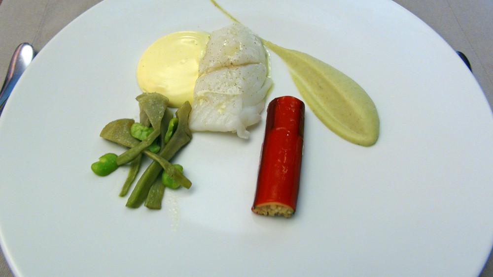 Turbot, quinoa/poivron rouge, beurre citron