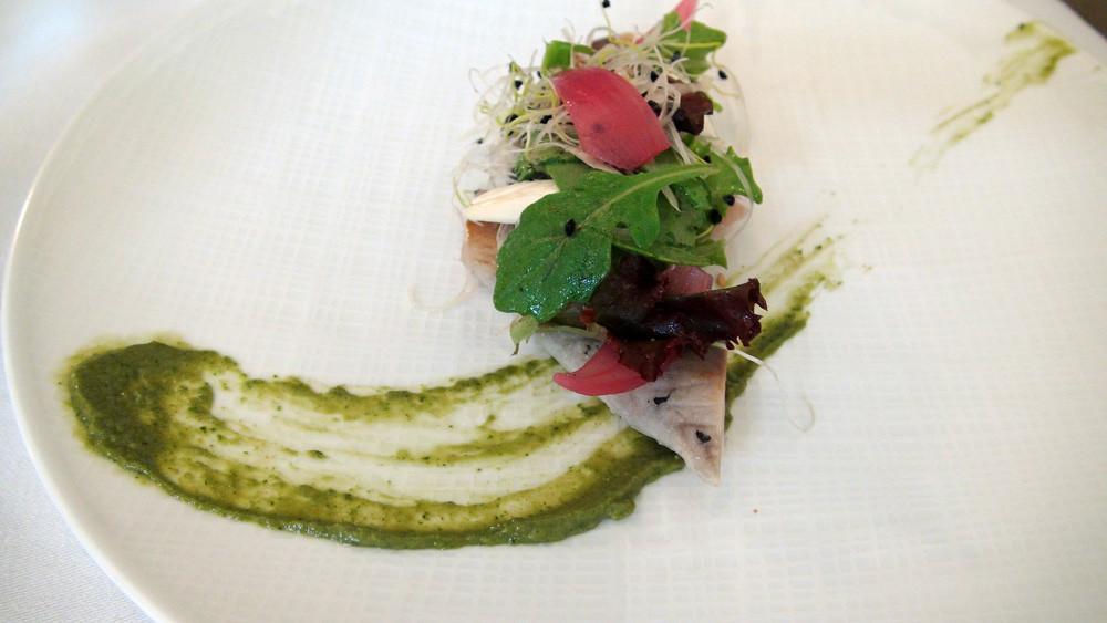 Maquereau confit, sauce anchoïade