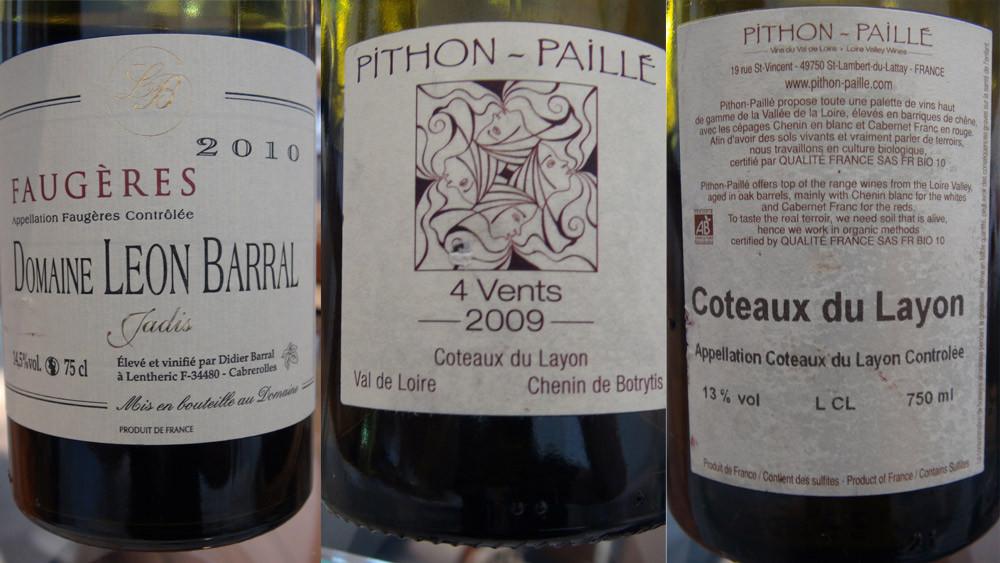 Les 2 derniers vins servis