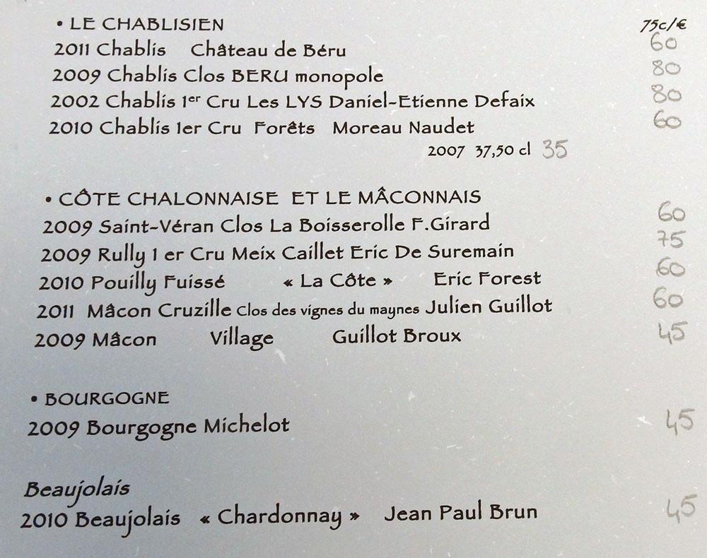 Vins de Bourgogne blancs (suite)