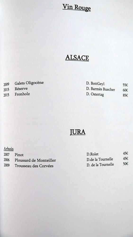 Alsace et Jura rouges (6 références)
